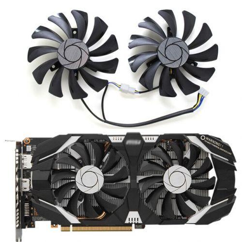 [해외] 2 GTX 1060 P016 85MM VGA 쿨러 팬 MSI GEFORCE GTX10606GTOC INNO3D GTX 1060 6 GB 비디오 그래픽 카드 냉각 팬, 상세내용표시