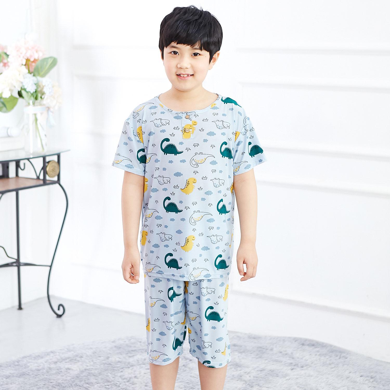 해피디노 아동 냉감잠옷 5부 상하세트 반팔잠옷 실내복 남아