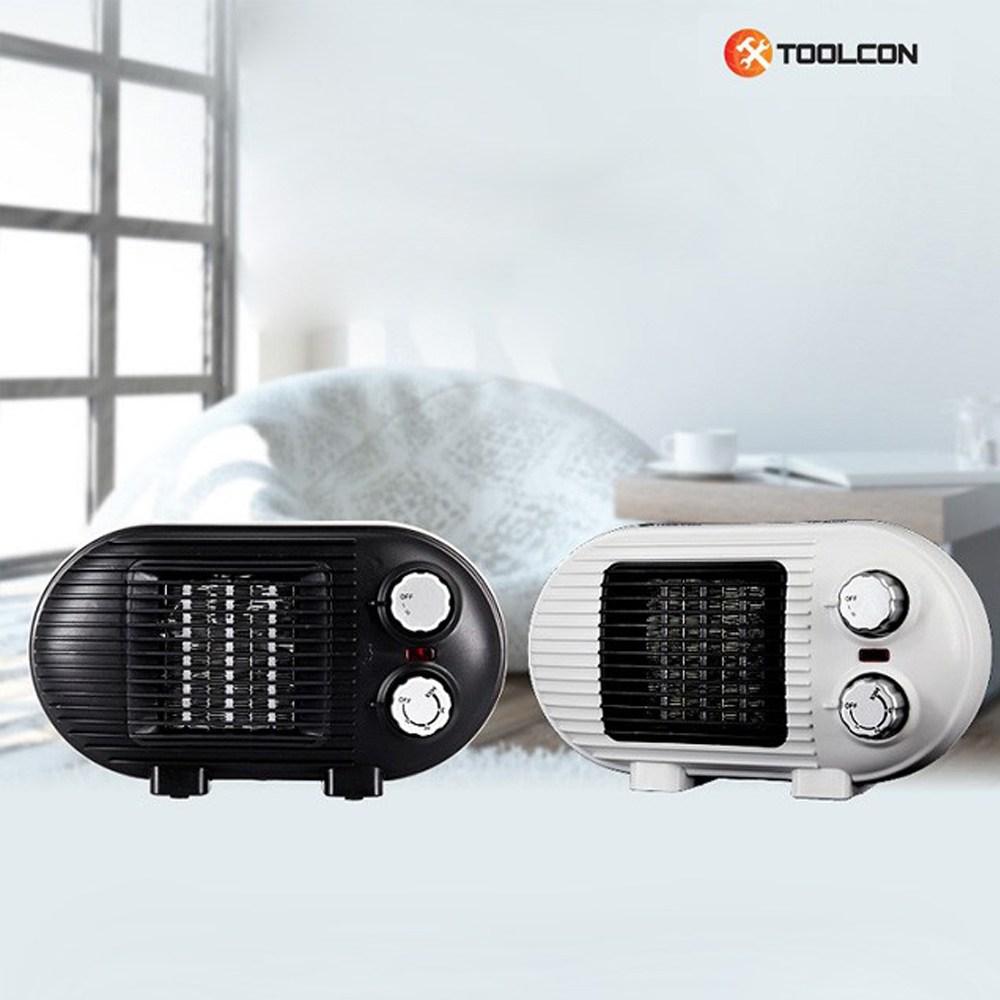 툴콘 PTC 미니 팬히터 온풍기 캠핑 전기히터 TP-800D, TP-800D(화이트)