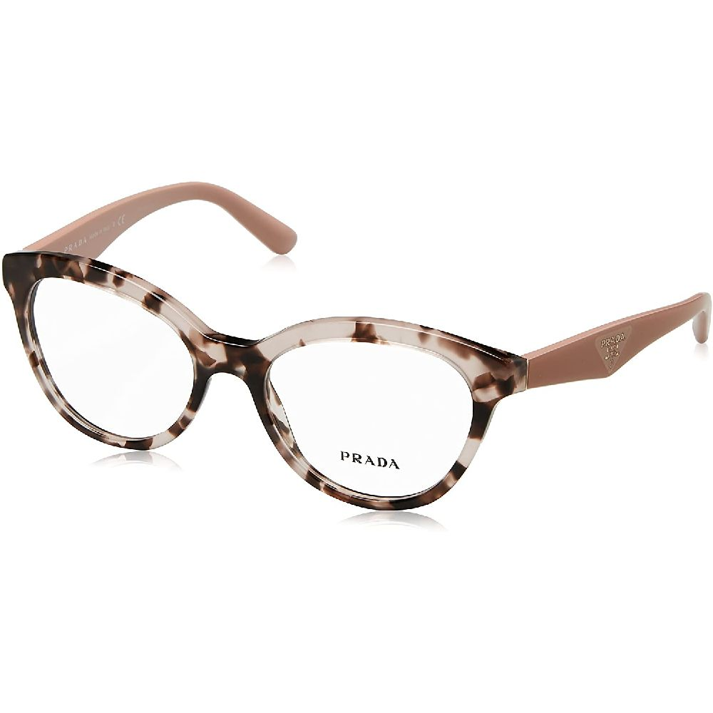Prada 삼각형 PR11RV 안경 프레임 ROJ1O1 (52) - 핑크 하바나 PR11RV-ROJ1O1-52