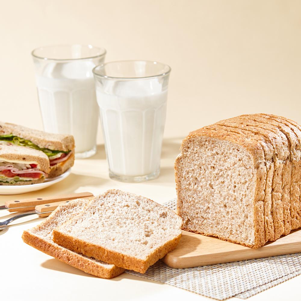통밀명가 맛있고 건강한 저칼로리 저탄수 통밀빵 비건 식빵, 10개입, 33g