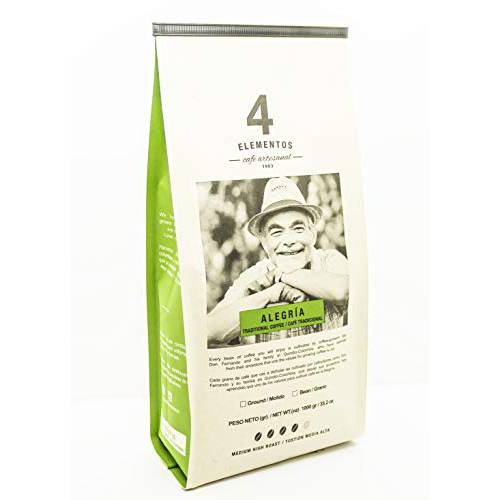 4 Elementos Alegria Artisanal Ground Coffee 35.2 oz Colombian Tradit, 상세내용참조