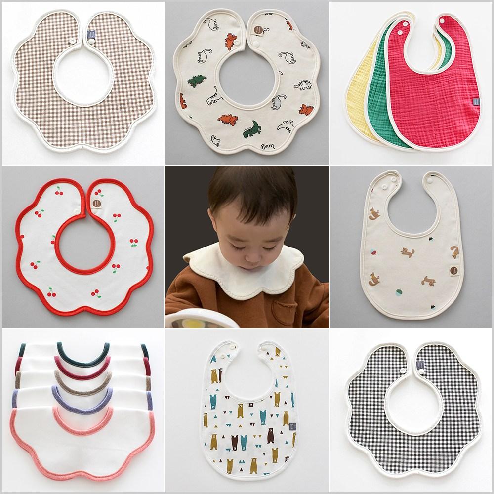 Vella craft 사계절 순면 스카프빕 아기 턱받이 유아 애기 신생아 침받이01