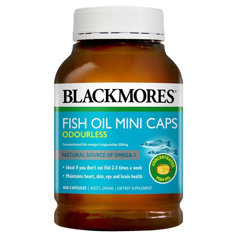 호주 블랙모어스 무취 피쉬오일 1000mg 400미니캡슐 오메가3 대용량