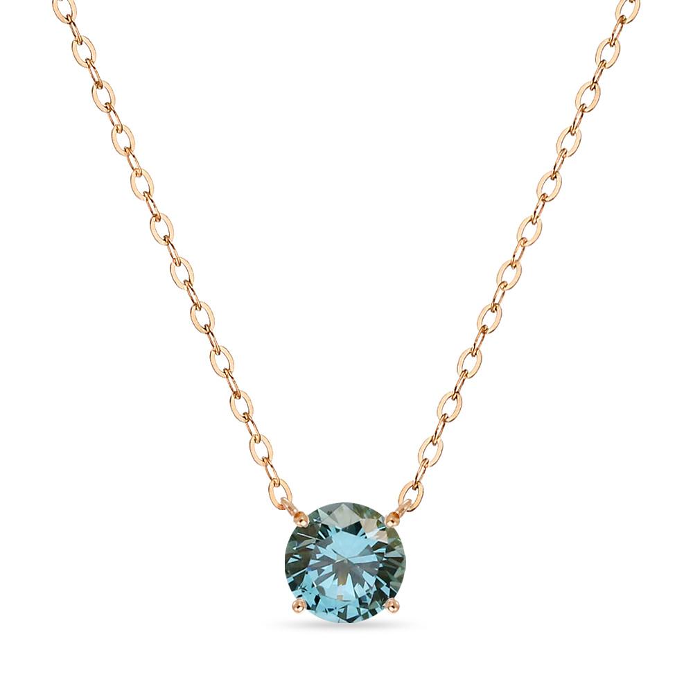 14K 목걸이 1캐럿 런던 블루 토파즈 골드 데일리 여친 선물 gold necklace_NQDM4110