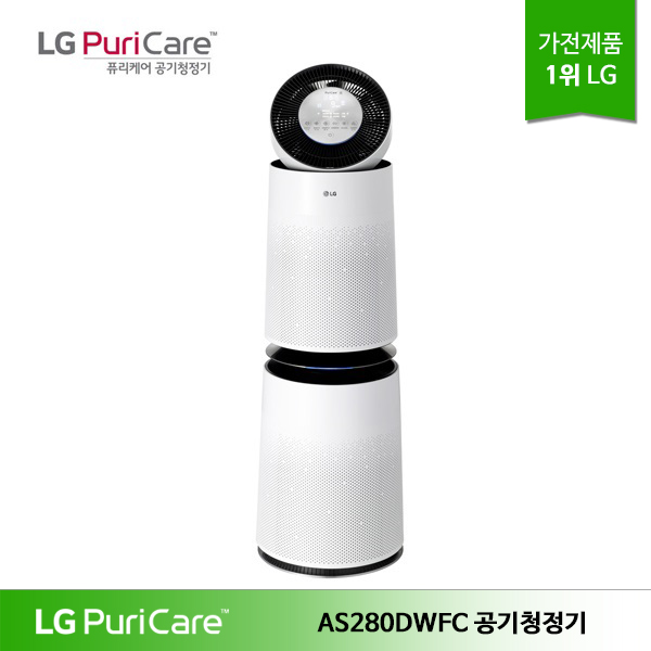 LG전자 LG 퓨리케어 360 공기청정기 AS280DWFC 클린부스터