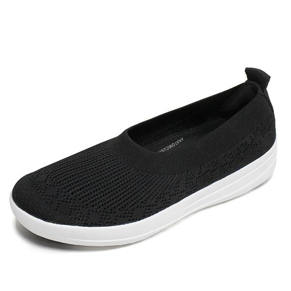 핏플랍 우버니트 슬립온 발레리나 블랙 H95-001 여성 스니커즈 신발