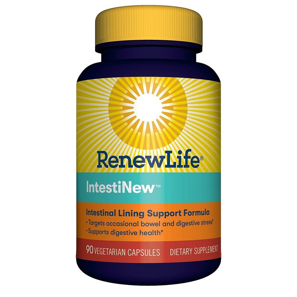 리뉴라이프 인테스티날 라이닝 장 내벽 소화 스트레스 영양제 90캡슐 Renew Life IntestiNew Intestinal Lining Support, 1개
