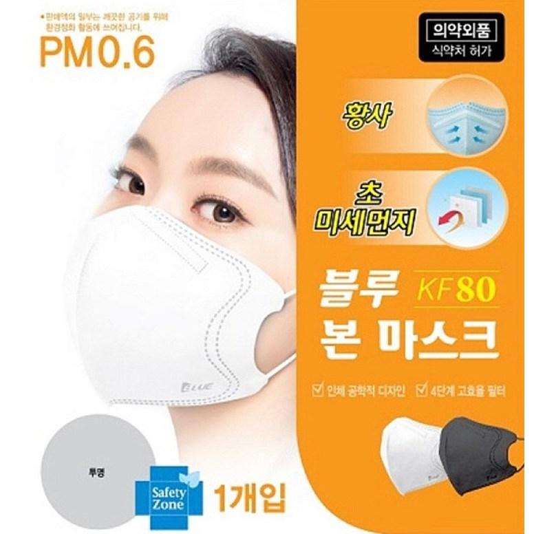 블루본 블루인더스 KF80 KF94 국산 일회용 보건용 10매 50매 새부리형 마스크