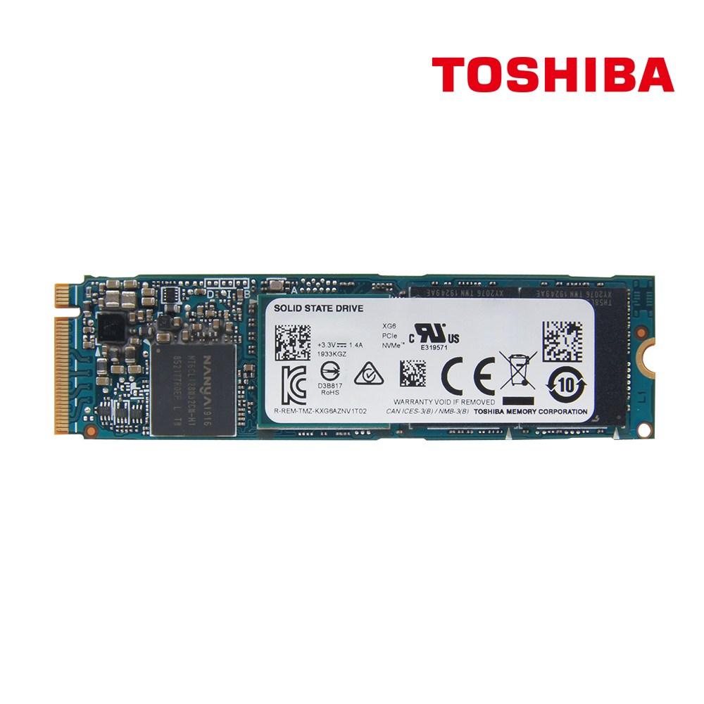 도시바 XG6 M.2 NVMe SSD 512GB 고속 970Evoplus동급