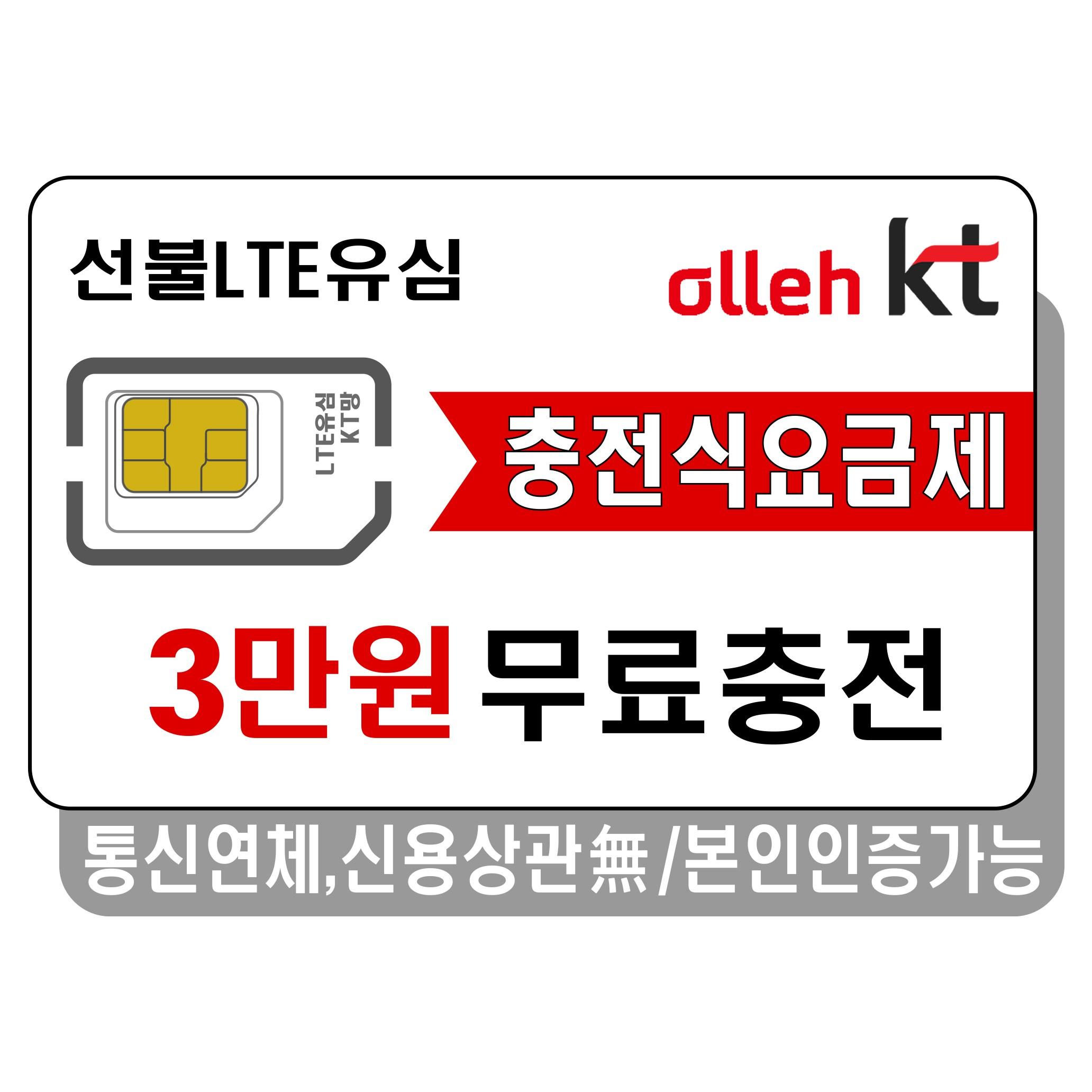 프렌즈모바일 KT선불폰 선불유심 유심개통, 선불LTE45, 1개