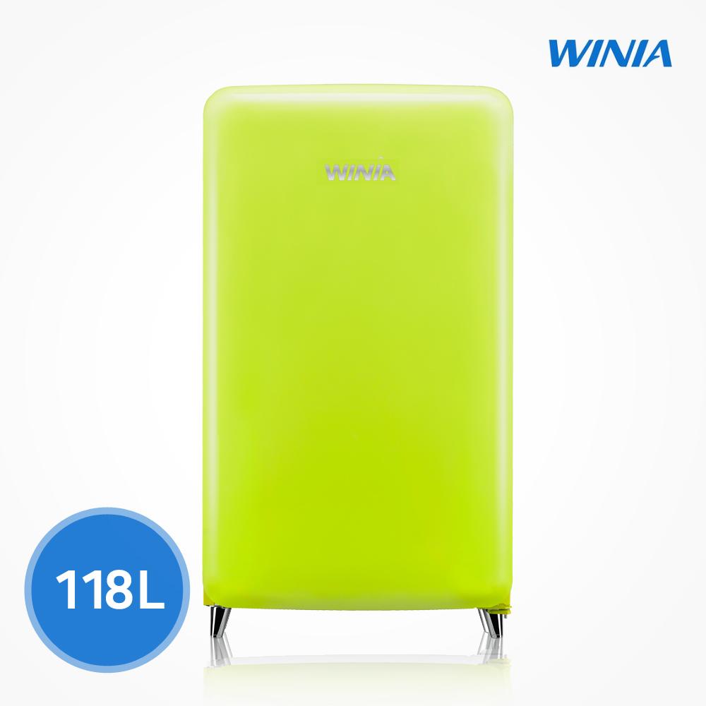 위니아 칵테일 프리미엄 소형 냉장고 (118L) ERT118CL, 라임