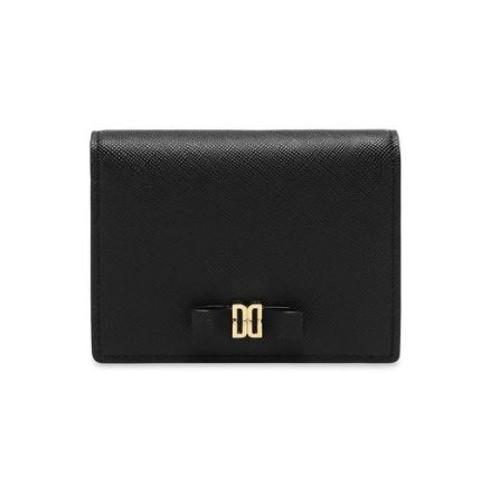 [닥스핸드백]블랙 DD로고리본 카드지갑 DCWA0E527 BK