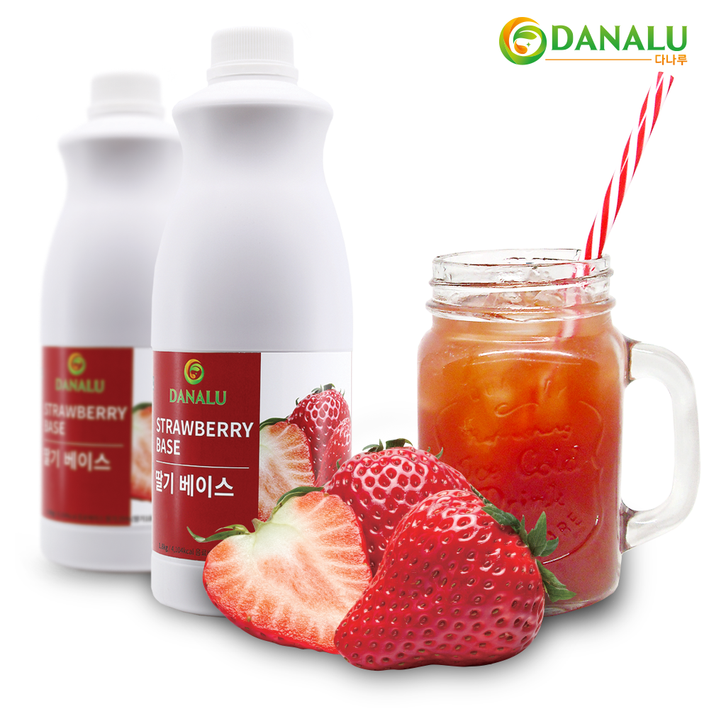 다나루 딸기 농축액 1.8kg 과일농축액 과일음료베이스 딸기에이드 딸기스무디 딸기라떼