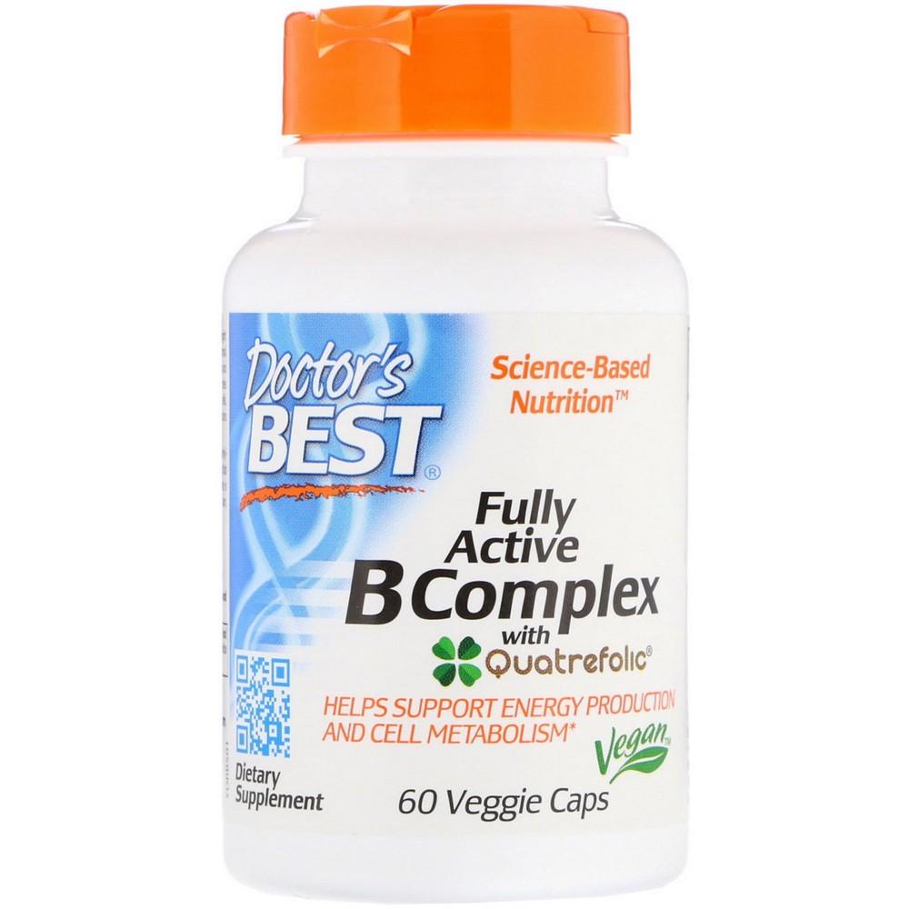 Doctors Best Fully Active B Complex with Quatref, 선택, 상세설명참조