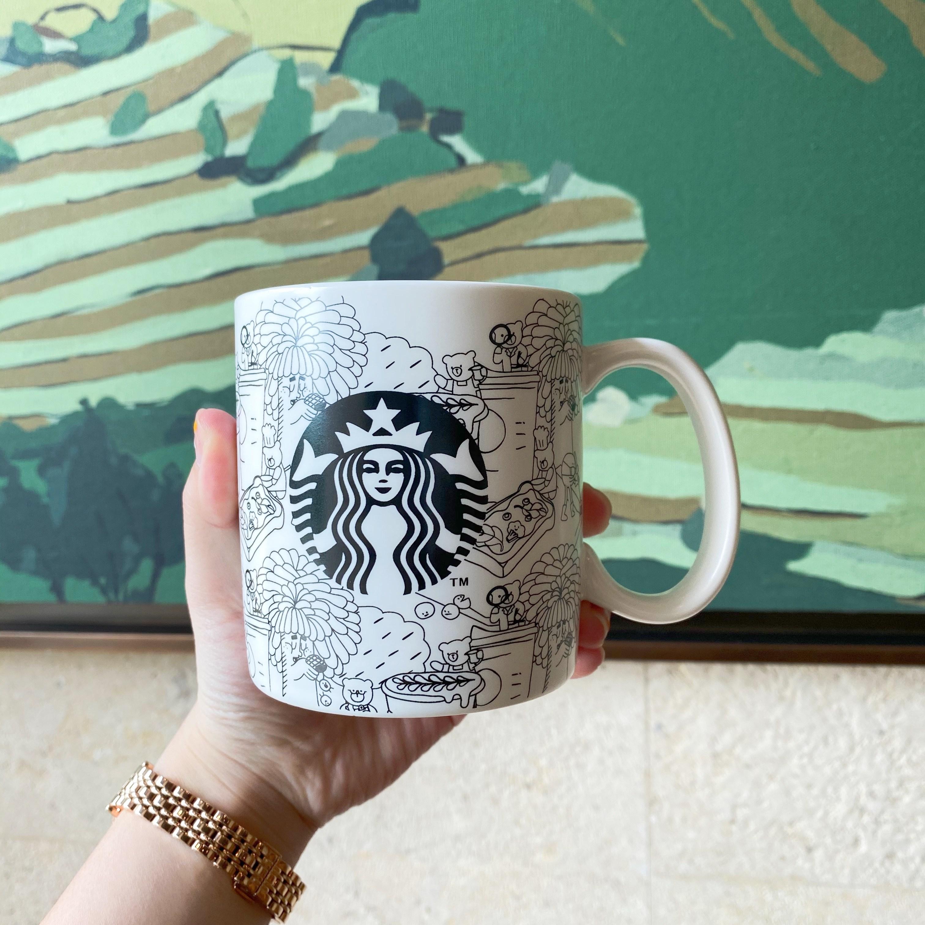2020년 스타벅스 벚꽃MD 황동사이렌 머그컵 찻잔 커피컵 물컵 선물, 커피 머그컵 473ml