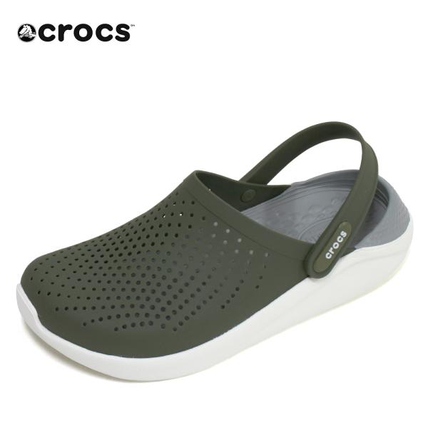 크록스 크록스 라이트라이드 클로그 남자 여자 샌들 아미그린 204592-37P 신발