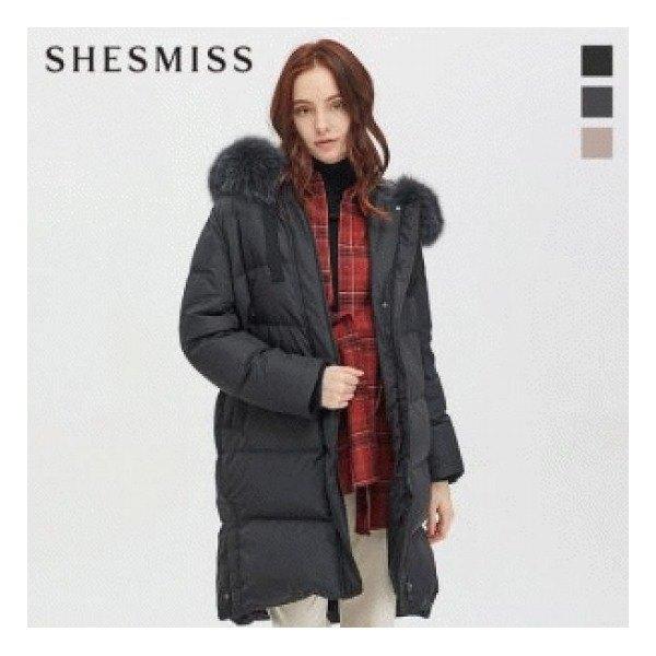 [쉬즈미스(SHESMISS)] (SSDJPJ42030) 쉬즈미스 [] 폭스 후드 퀼팅 구스