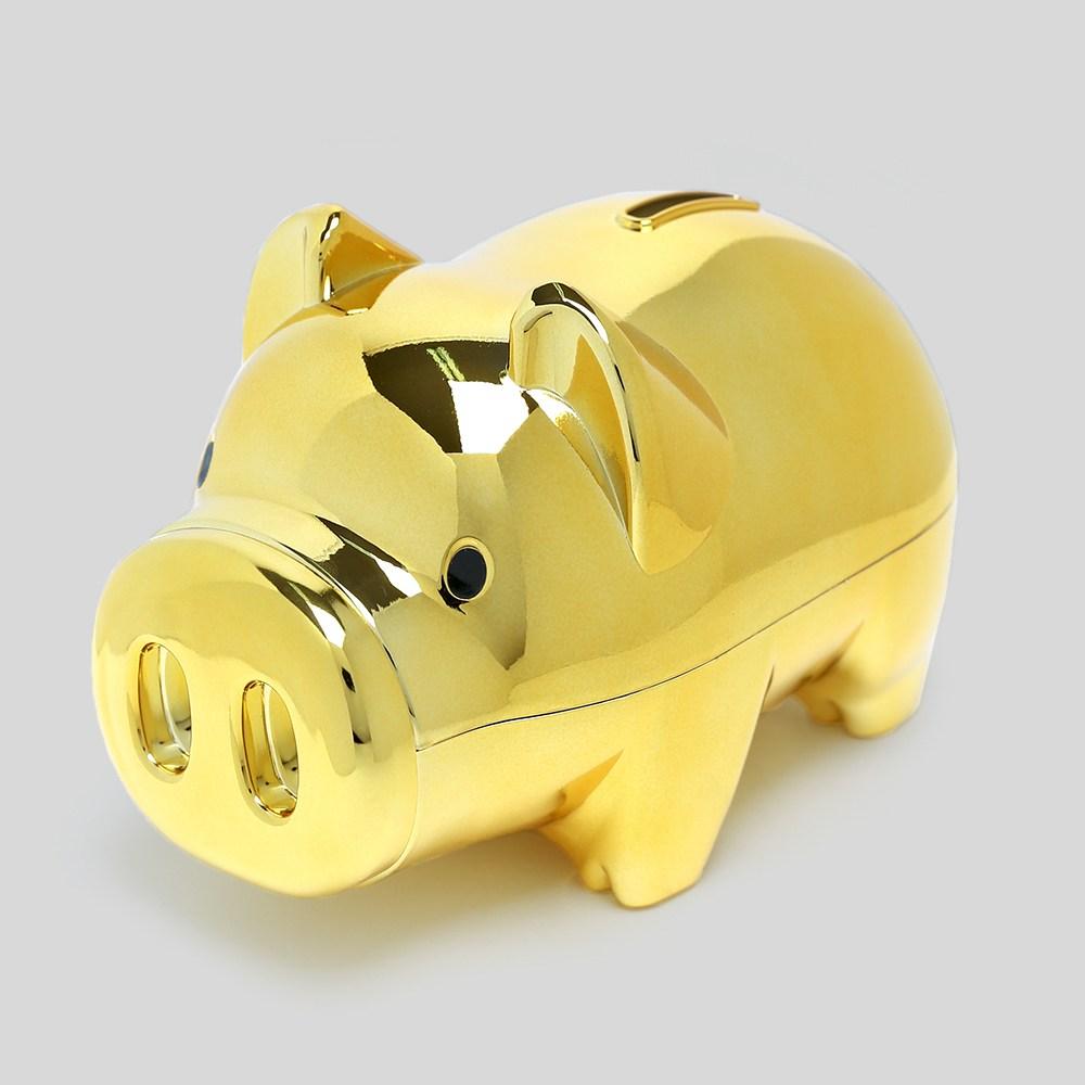 국산 골드 돼지저금통 17x11cm사은품 황금돼지 저금통