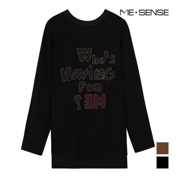 미센스 네크라인 리본 티셔츠 MA8YTSM210Z