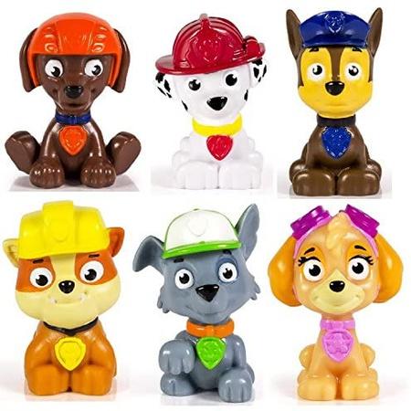 Toy Kids Paw Patrol 미니 피규어 6 개 세트-Rocky Zuma Skye Rubble Marshall amp; Chase PROD173000, 상세 설명 참조0