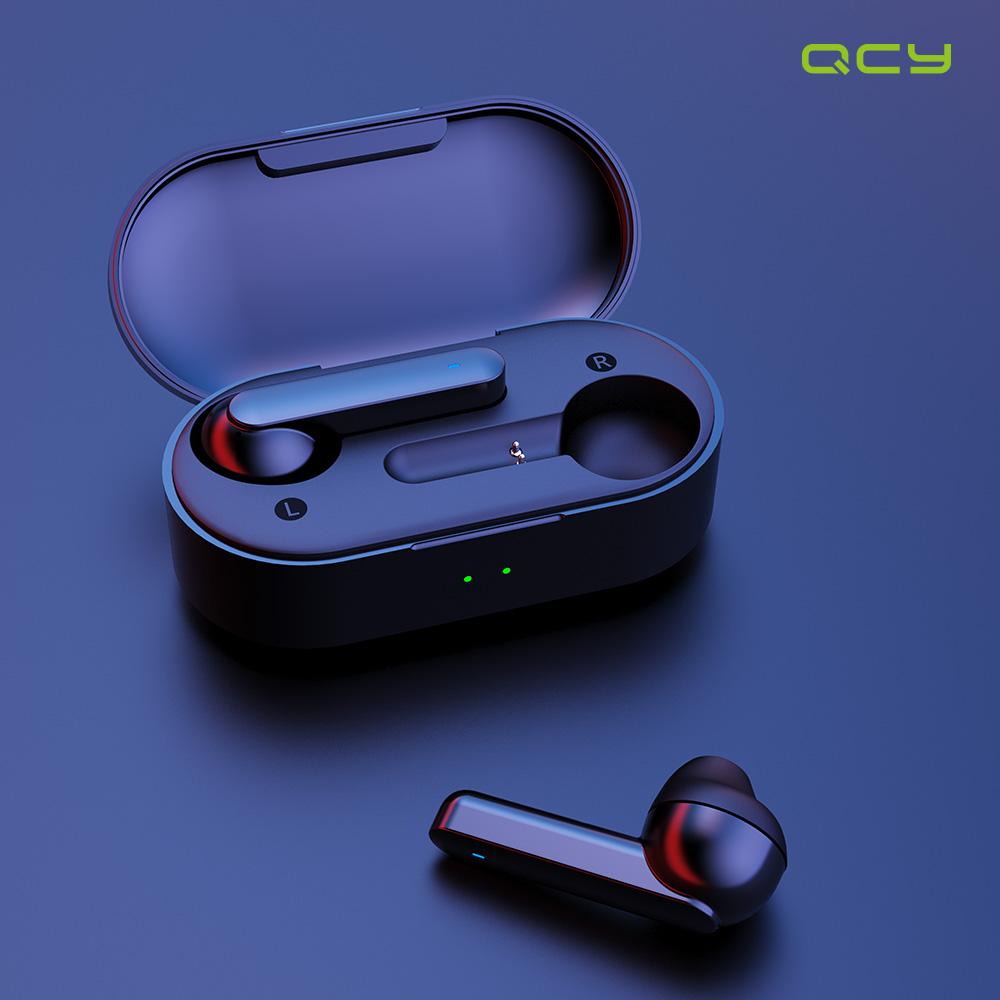QCY 국내정품인증점 T3 블루투스 이어폰 국내AS 블루투스이어폰, 블랙+가죽파우치+탱크파우치, QCY T3