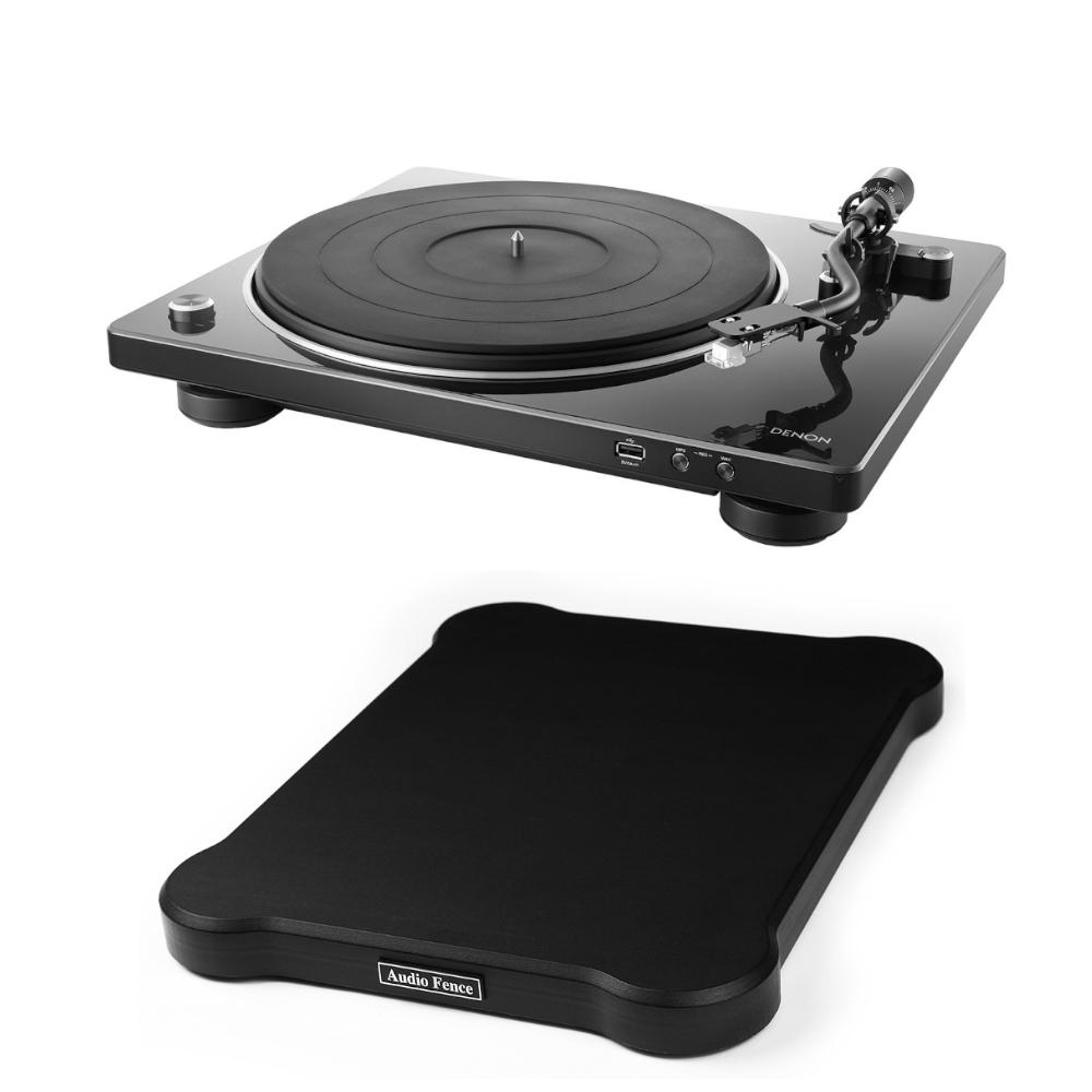 데논 DP-450USB 턴테이블 + 오디오펜스 방진매트, 블랙