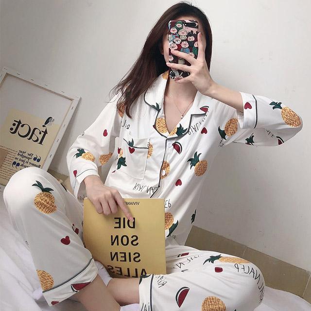 말랑마쥬 러브파인 긴팔잠옷세트 파자마파티