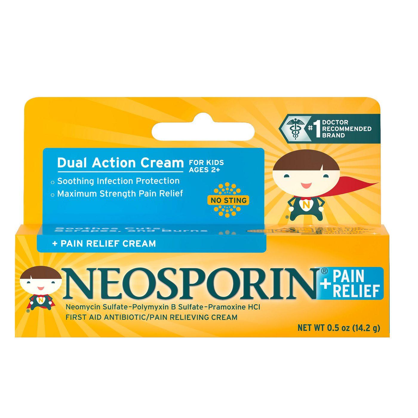 어린이 네오스포린 연고 _ Neosporin Cream for Children - 0.5 oz, 3개