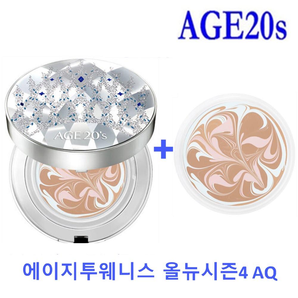AGE20s 시즌14 에이지투웨니스 올뉴4 에센스커버팩트 AQ 이나영 여왕 팩트, 1개, 21호 본품+리필