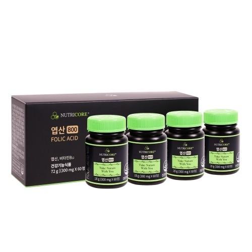 뉴트리코어 임산부 영양제 엽산 800 3+1박스 (8개월분)