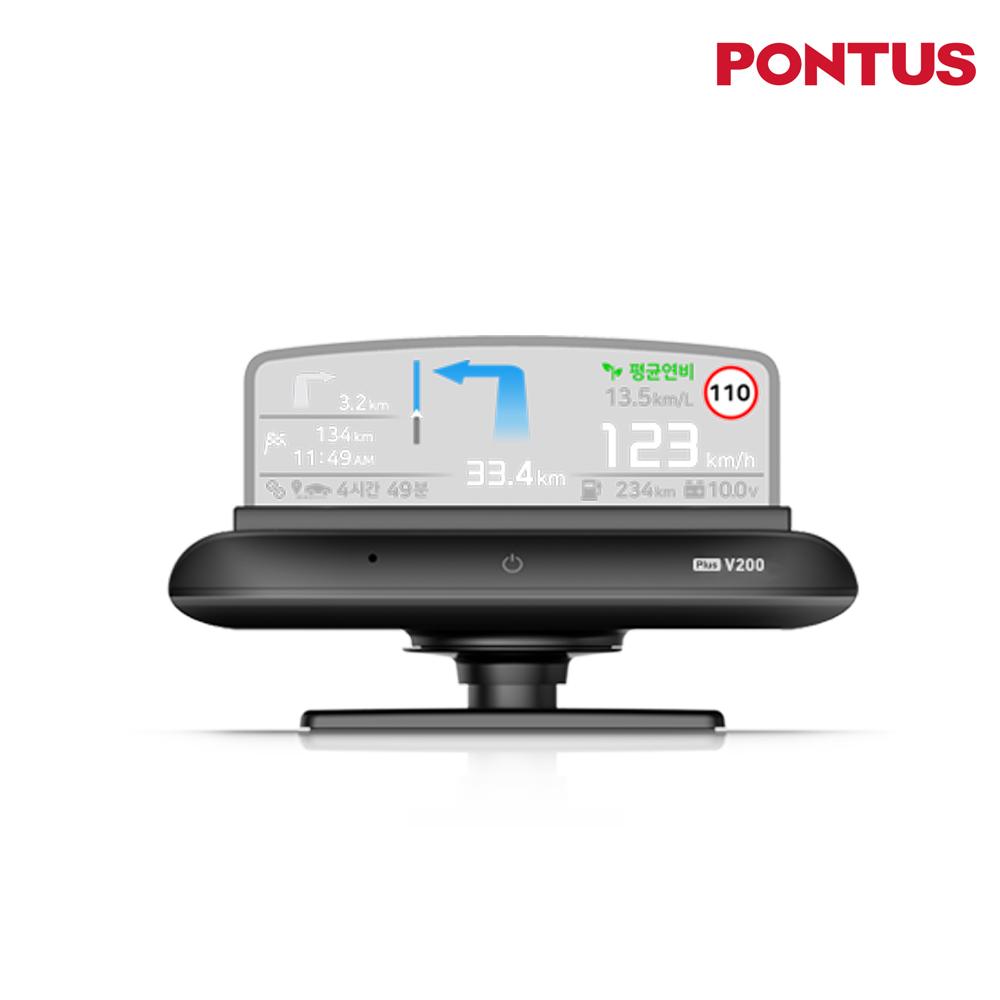 [신제품출시] PONTUS HUD PLUS V200 현대폰터스 헤드업디스플레이 플러스V200, PLUS V200+MCAN(출장장착)