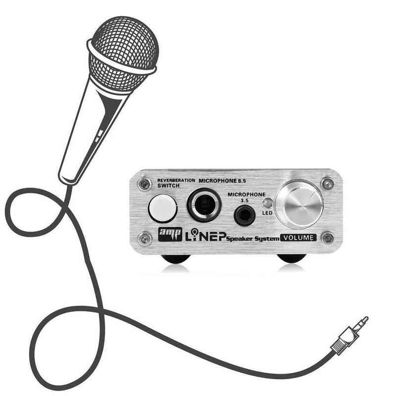 노래방 기계 반주기 색소폰 노래방책 미니 마이크 오디오 앰프 마이크 사운드 앰프 마이크