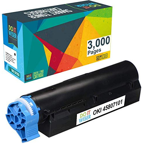 Do it Wiser Compatible Toner Cartridge Replacement for Oki B412 B432 B512 MB472 MB492 MB562-45807101 Black - 3000 Pages, 본문참고