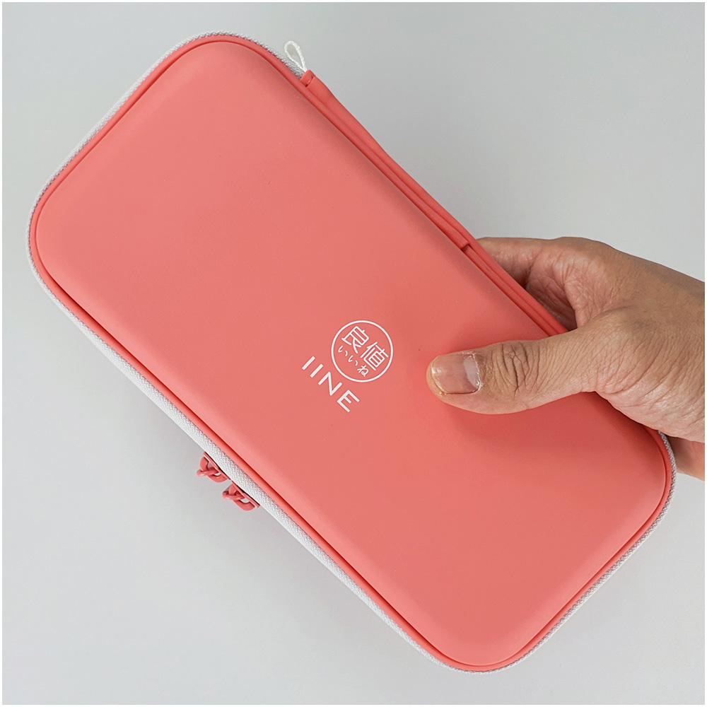닌텐도 스위치 라이트 코랄 핑크 에어폼 파우치 케이스, 1개, 라이트코랄핑크파우치