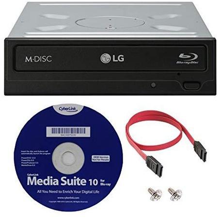 LG WH16NS40K 16X 블루레이 BDXL M-DISC DVD CD 내장 라이터 드라이브 번들 with Free Cyberlink 미디어 S, 상세 설명 참조0