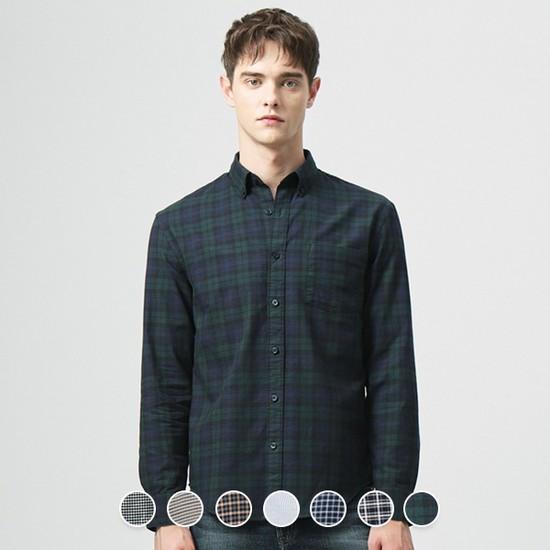 [지오다노] 049905 옥스포드 셔츠 패턴