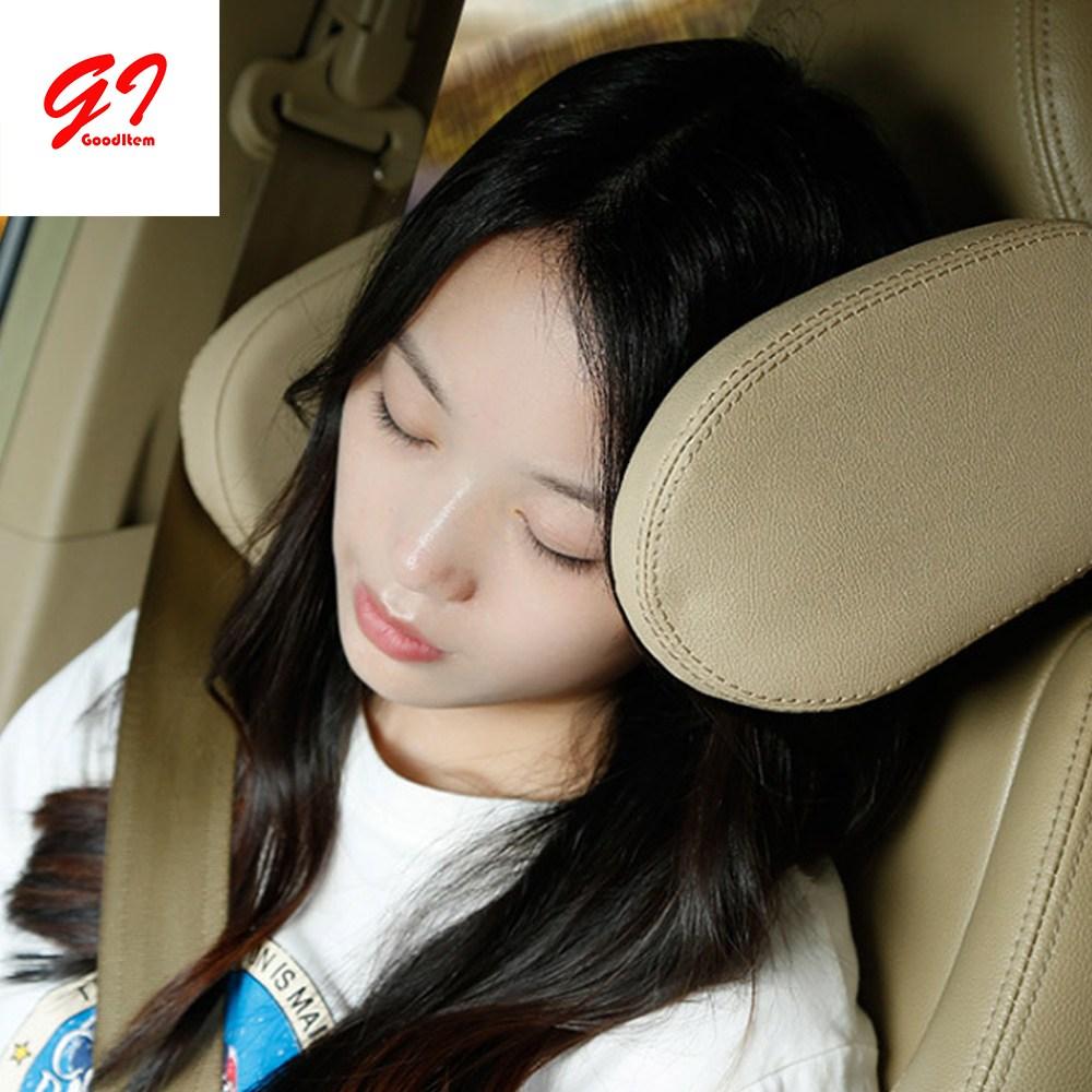 굿아이템 차량용 자동차 목쿠션 목베개 헤드레스트 의자 목받침, 블랙