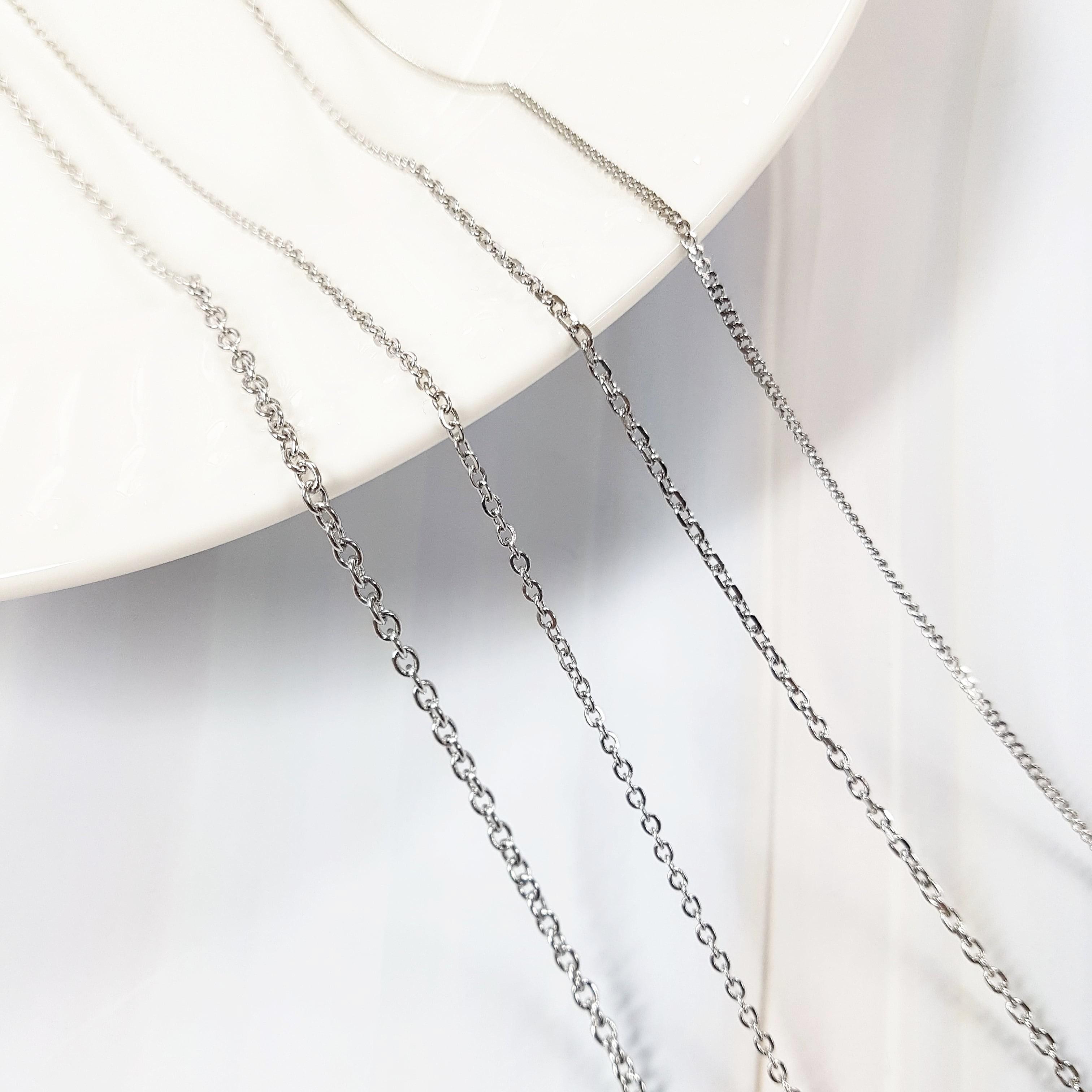 글로리네 써지컬스틸 목걸이체인 목걸이줄 체인목걸이 연장체인 롱목걸이
