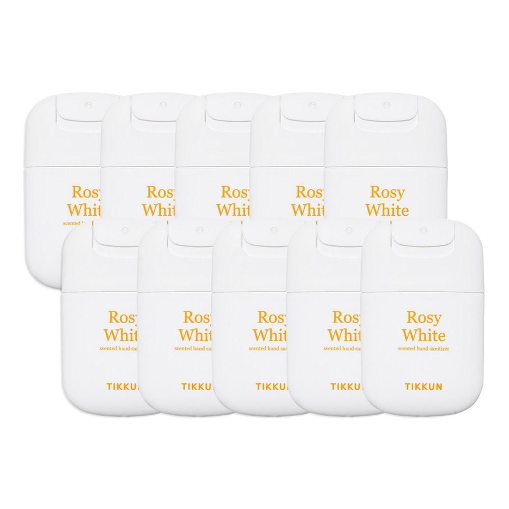티쿤 휴대용 퍼퓸 손소독제 로지화이트 에탄올70%, 10개, 20ml