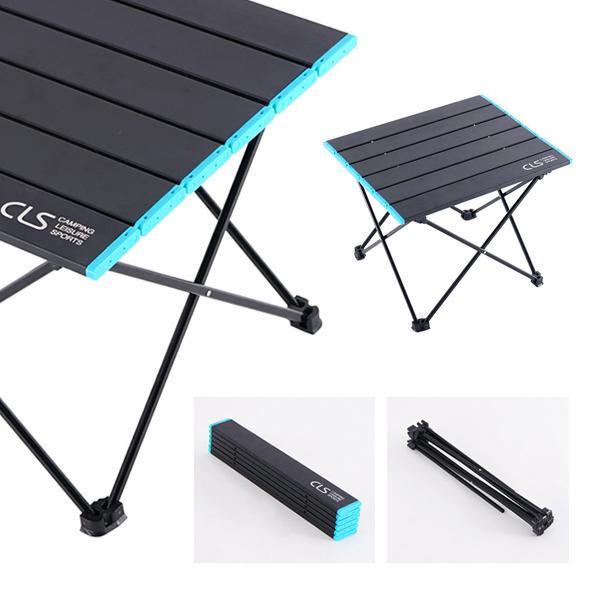 슈페리온 캠핑용 폴딩테이블 소 중 대 접이식 캠핑테이블 경량 롤테이블, 블랙+블루