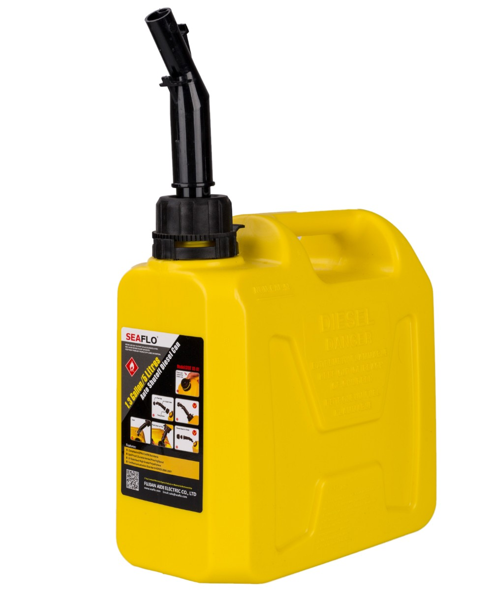 캠핑등유통 캠핑용 휴대용 기름통 석유통 5L 10L 20L 불멍 히터, 5L 노란색