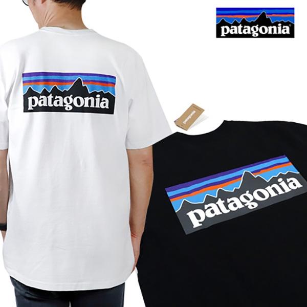 파타고니아 남녀공용 멘즈 P-6 로고 리스판서빌리티 반팔 티셔츠