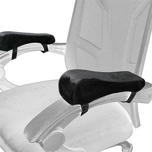 메모리폼 의자팔걸이 쿠션 2개한세트 armrest pad 팔걸이쿠션 팔받침대, 블랙