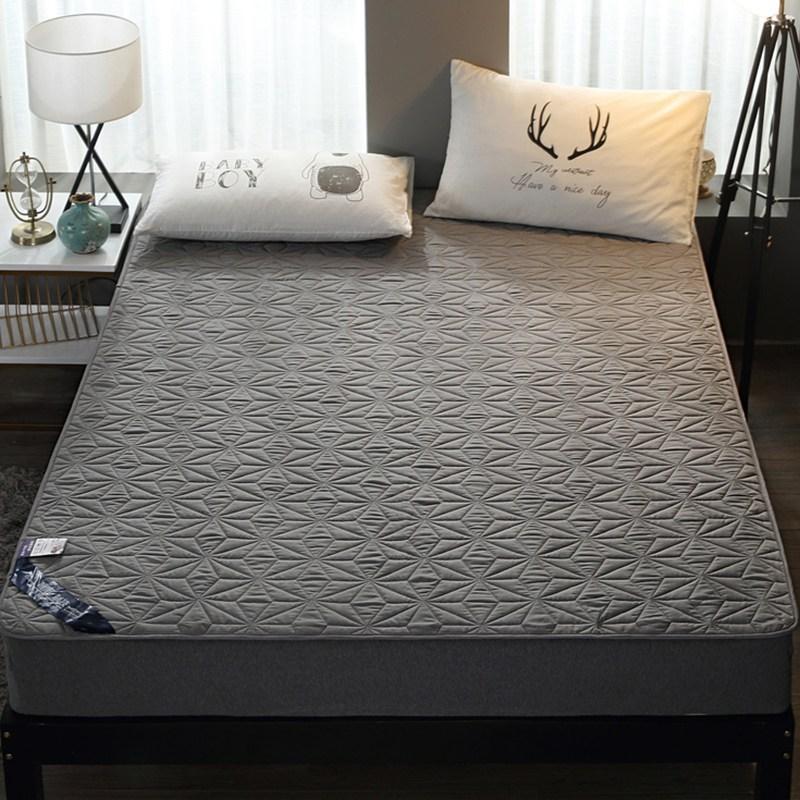 토퍼 템퍼 매트리스 침구 기타 면실 사계절 공용 침구, 회색_1.2m (4 피트)
