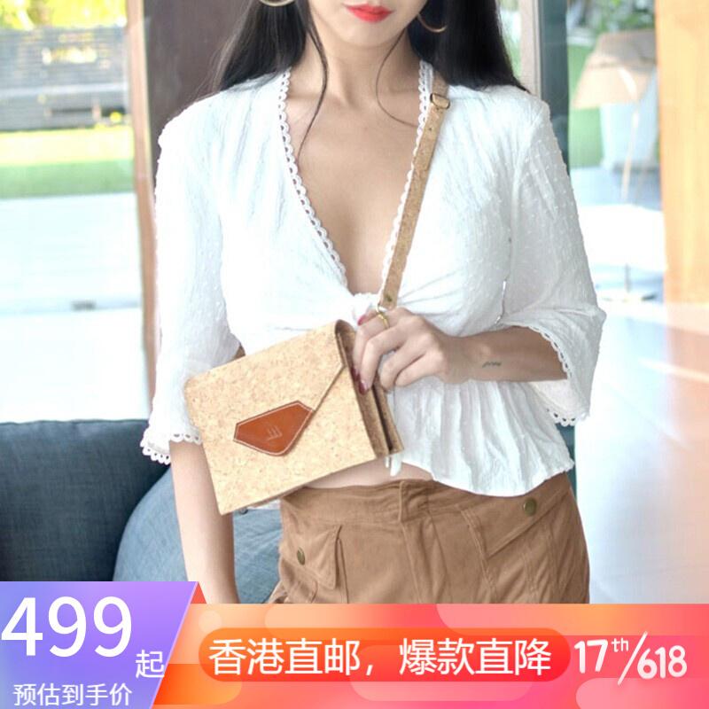 MAZIZIZELLE 코르크 원색의 봉투 가방 크로스 백 숄 더 백 레 트 로 백 소녀 원색의 끈.