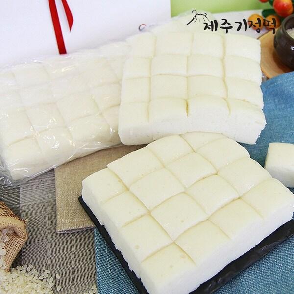 믿고쓰는 제품 신세계TV쇼핑제주기정떡 자연발효 건강떡 백미한판 19kg 64조각 1box