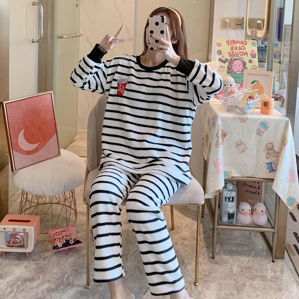 홈블리아 스트라이프 빅사이즈 수면잠옷 파자마 상하세트