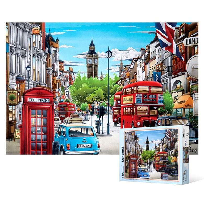 [z6320:u]W265E56500피스 직소퍼즐 - 런던의 평화로운 오후(ud6317:i), 1