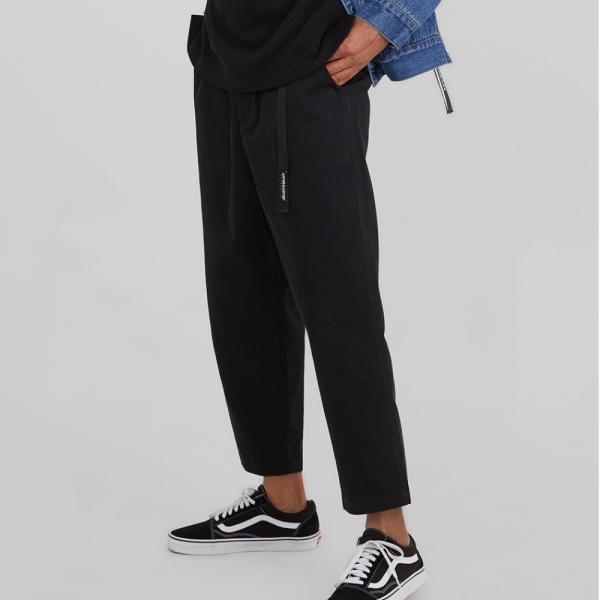 어드바이저리 Banding Baggy Crop Pants - Black